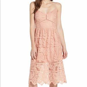 Love Fire Lace Midi Dress